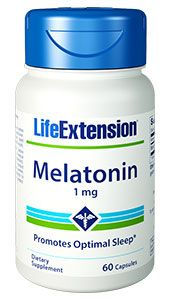 Melatonin 1mg(60caps)* Life Extension